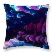 L. Histidine Crystals Throw Pillow by M. I. Walker