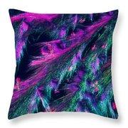 L. Tyrosine Crystals Throw Pillow