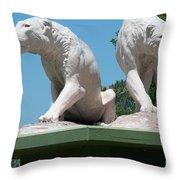 La Brea Tar Pits Throw Pillow