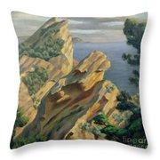 La Ciotat Near Marseilles Throw Pillow