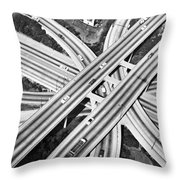 La Freeway Interchange Throw Pillow