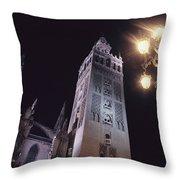 La Giralda, A Part Of The Seville Throw Pillow