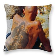 La Ink Man Throw Pillow