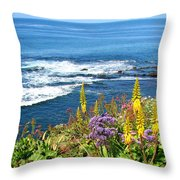 La Jolla Coast Throw Pillow