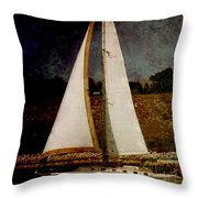 La Paloma Blanca Boat Throw Pillow