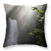 La Paz Waterfall Costa Rica Throw Pillow