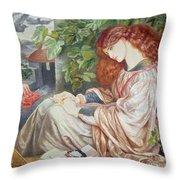 La Pia De Tolomei Throw Pillow by Dante Charles Gabriel Rossetti