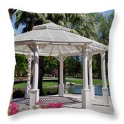 La Quinta Park Gazebo Throw Pillow