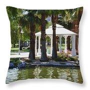 La Quinta Park Summer Throw Pillow