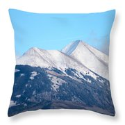La Sal Mountains 111 Throw Pillow