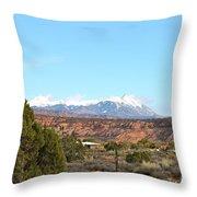 La Sal Mountains Throw Pillow