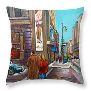 La Senza Peel Street Montreal Throw Pillow