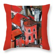 La Tour Rose In Lyon 2 Throw Pillow