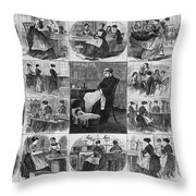 Labor: Women, 1868 Throw Pillow