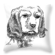 Labrador-portrait-drawing Throw Pillow