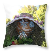 Lace And Straw Throw Pillow