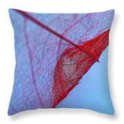 Lace Leaf 3 Throw Pillow