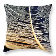 Lace Leaf 4 Throw Pillow