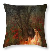 Laces Undone Throw Pillow by Svetlana Sewell
