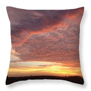 Lacy Pink Sunset Throw Pillow