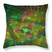 Lacy Rainbow Triangle Throw Pillow
