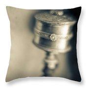 Ladakh, Jammu And Kashmir, India Silver Throw Pillow
