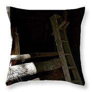 Ladder In The Shadow Throw Pillow