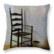 Ladderback Throw Pillow by Judi Bagwell