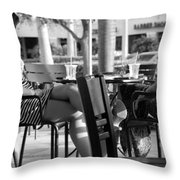 Ladies In Dresses Throw Pillow