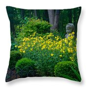 Lady Among The Blossoms Throw Pillow
