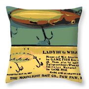 Lady Bug Wiggler Throw Pillow