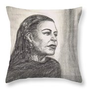 Lady Day Throw Pillow