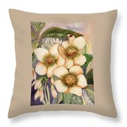 Lady Feed Throw Pillow