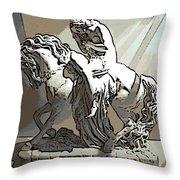 Lady Godiva Statue Throw Pillow