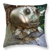 Lady Goldcrow Throw Pillow