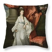 Lady Grant - Wife Of Sir James Grant Throw Pillow