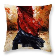 Lady In Red 28 Throw Pillow