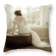 Lady In Sequin Gown Throw Pillow