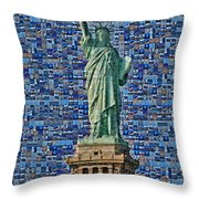 Lady Liberty Mosaic Throw Pillow