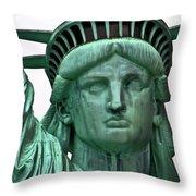 Lady Liberty Up Close Throw Pillow