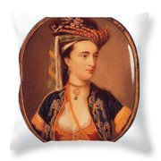 Lady Mary Wortley Montagu Throw Pillow