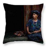 Lady Of Antigua Throw Pillow