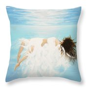Lady Of The Water Throw Pillow