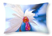 Lady Orchid Throw Pillow