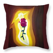 Lady Rose Throw Pillow