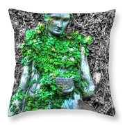 Lady Statue Throw Pillow