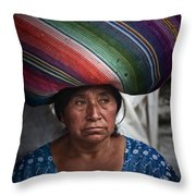 Lady With A Load Throw Pillow