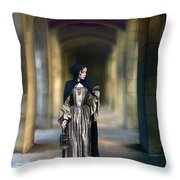 Lady With Bird Throw Pillow