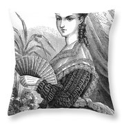 Lady With Fan, C1878 Throw Pillow