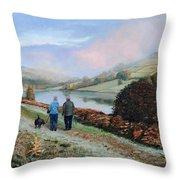 Ladybower Reservoir - Derbyshire Throw Pillow
